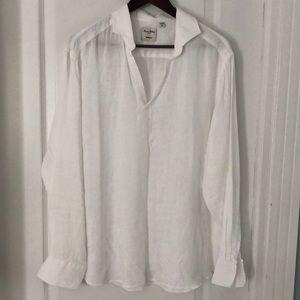 Murano white linen shirt. XL